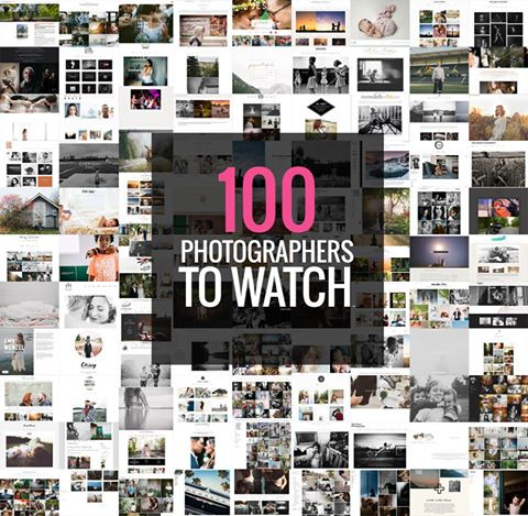100 Photographers to watch!