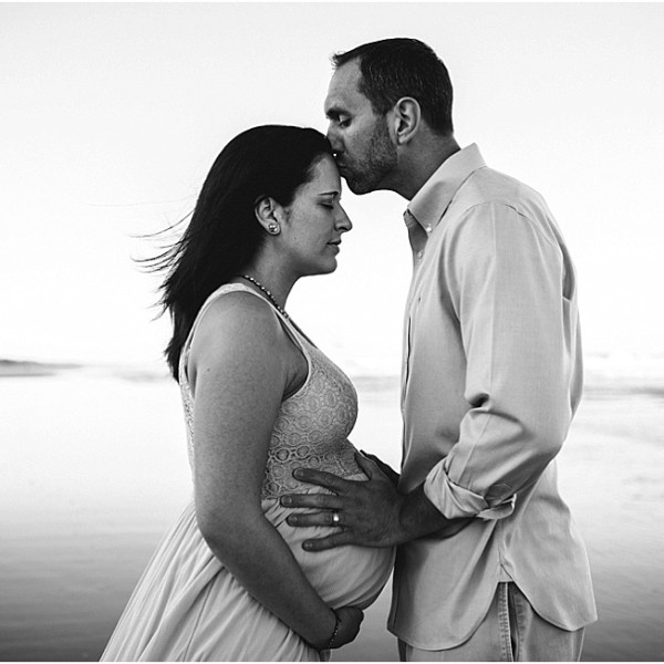 Family will be soon bigger. Maternity and Family Beach Session. Jacksonville maternity and Family photographer.
