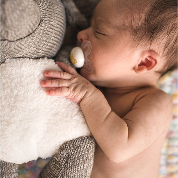 It was like waiting for a falling star. Loved to the moon and back newborn baby boy... and his new furry friend.