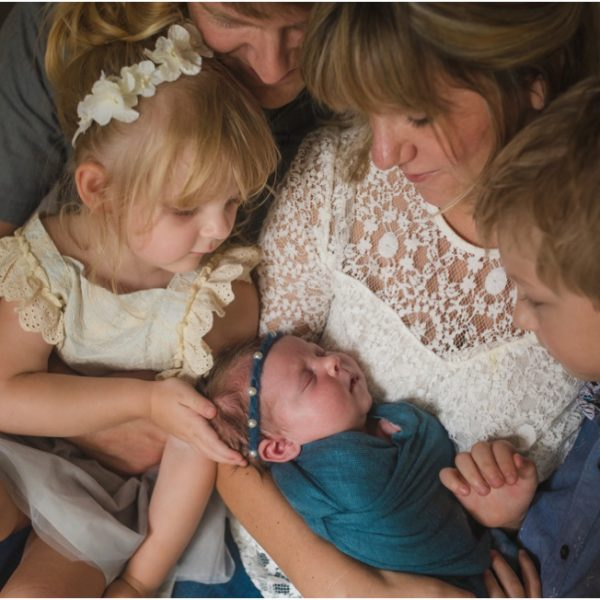 Wonderful family of five | Newborn session Jacksonville Photographer